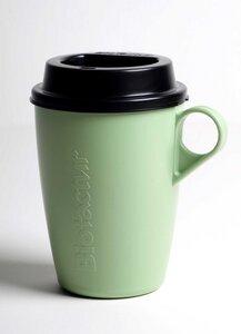 Coffee Cup To Go aus Biokunststoff mit Deckel - BioFactur