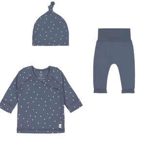 Lässig Baby Erstlings Set Wickelhemd, Mütze und Hose GOTS zertifiziert NEU - Lässig