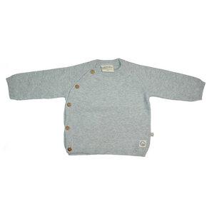 Baby Strickjacke Baumwolle (bio) grau  - Ebi & Ebi Naturel Line