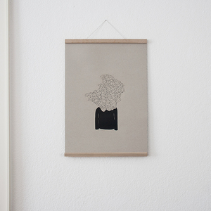 Set / Monsieur Visionaer (A2 Siebdruck Poster) + Magnetische Posterleiste Eiche A2 - Kleinwaren / von Laufenberg