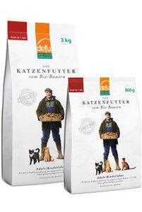 defu Bio-Katzentrockenfutter Adult Rinderleber  - defu - dem Leben verpflichtet