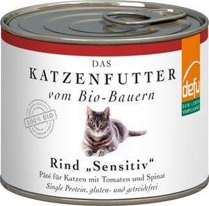 defu Bio Rind Sensitiv Pâté für Katzen - defu