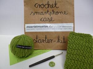 Smartphone-Hülle Häkel-Kit - mörtel.mütze