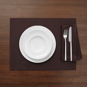 Tischset/ Platzset TABLO Bio Baumwolle 2tlg - 32x42 - Espresso, Schiefer oder Weiß - NATUREHOME