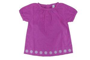 Kinder Bluse pink, Kurzarm - sense-organics