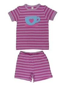 Kinder Schlafanzug kurz, rosa/pink - sense-organics