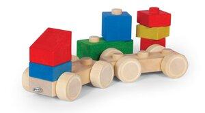 Holzbaukasten Auto  9teilig - Varis Toys