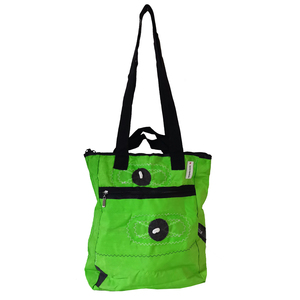 3 in 1: Rucksack, Tote bag & Shopper / Fahrradtasche aus Segeltuch / Canvas / Kitesegel UNIKAT - Beachbreak