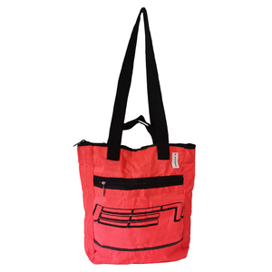 3 in 1: Rucksack, Tote bag & Shopper / Fahrradtasche aus Segeltuch / Canvas / Kitesegel UNIKAT - Beachbreak