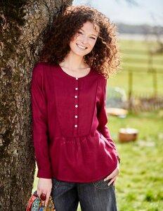 Feminine Bluse aus 100% Viskose (EcoVero Lenzing) - Deerberg