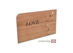 "Postkarte aus Holz ""Love"" - holzpost"