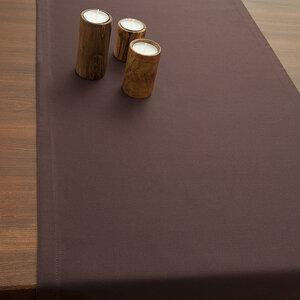 Tischläufer TABLO Bio Baumwolle 2tlg - 45x140 - Espresso, Schiefer oder Weiß - NATUREHOME