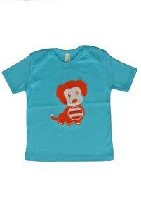 Baby T-Shirt, blau mit Motiv - sense-organics