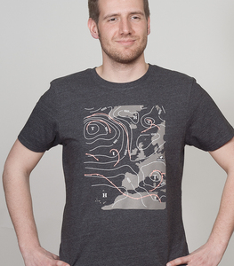 """Shirt Men Melange Black """"Weather"""" - SILBERFISCHER"""