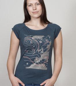 """Bamboo Raglan Shirt Women Denim Blue """"Weather"""" - SILBERFISCHER"""