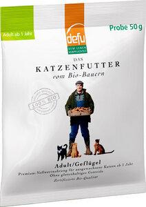 Probe defu Bio-Katzentrockenfutter Adult Geflügel  - defu - dem Leben verpflichtet