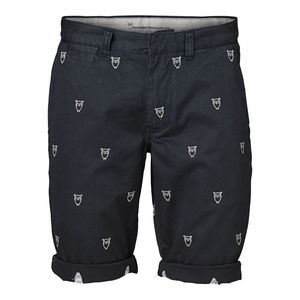 Twisted Twill Owl Print Shorts - KnowledgeCotton Apparel