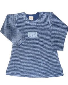 Baby Frottee Kleid, blau - Lana naturalwear
