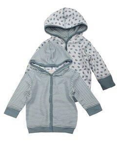 Kinder Wendejacke mit Kapuze blau - Lana naturalwear