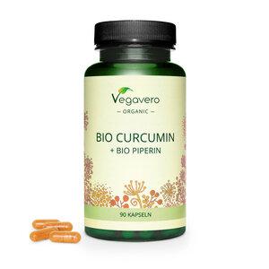Bio Curcumin & Bio Schwarzer Pfeffer Kapseln - Vegavero