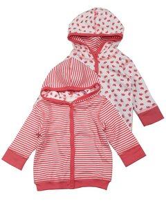Baby Wendejacke rot mit Kapuze - Lana naturalwear