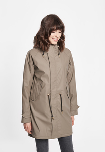 "Damen Regenmantel aus recycled Polyester ""Travel Cozy MONO"" - derbe"