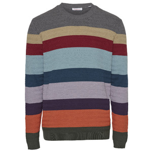 FIELD O-Neck Multi-Striped Pullover GOTS/Vegan - KnowledgeCotton Apparel