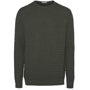 Pullover - O-neck structured knit - GOTS/Vegan - KnowledgeCotton Apparel