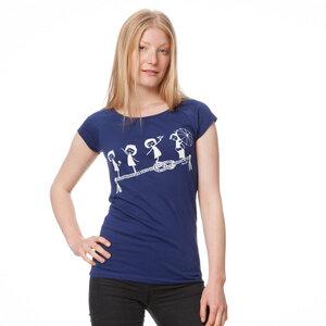 Fellherz Grazien T-Shirt Cap Sleeve Women white/blueprint - FellHerz