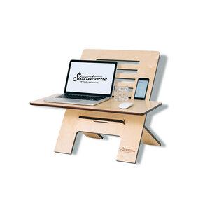 Standsome Slim Crafted mit breiter Ebene - Stehschreibtisch-Aufsatz aus Holz - Standsome