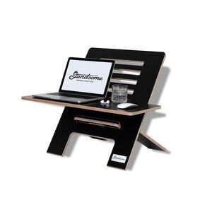 Standsome Slim Black mit breiter Ebene - Stehschreibtisch-Aufsatz aus Holz - Standsome