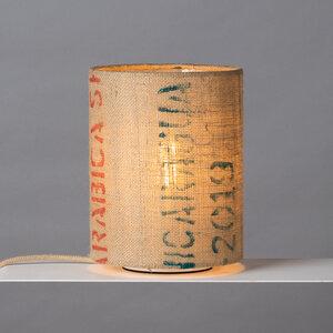 Tischleuchte Perlbohne N°8 aus Kaffeesack - lumbono