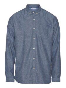 ELDER regular fit melange flannel shirt - KnowledgeCotton Apparel