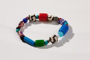 "Armband aus afrikanischen Perlen ""MAIDUGURI"" - PEARLS OF AFRICA"