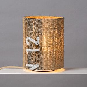 Tischleuchte Perlbohne N°12 aus Kaffeesack - lumbono