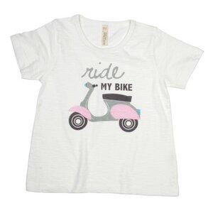 Kinder T-Shirt mit Motiv, Scooter - sense-organics