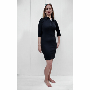 Jersey Polo-Kleid mit 3/4 Ärmeln - Biologischer Pima Baumwolle - B.e Quality