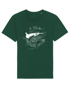 "Bio Faires Herren T-Shirt ""a calm sea, whale"" bottle green - ilovemixtapes"