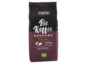 """memo Bio-Kaffee Crema """"Natura"""" ganze Bohne - memo"""