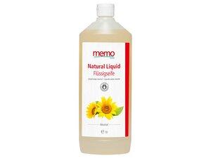"""memo Flüssigseife """"Natural Liquid"""" Nachfüllflasche, 1 l - memo"""