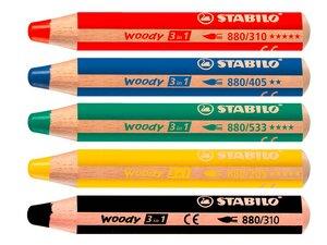 """STABILO Multitalent-Stift """"woody"""" 3 in 1 farbsortierter Pack - Stabilo"""
