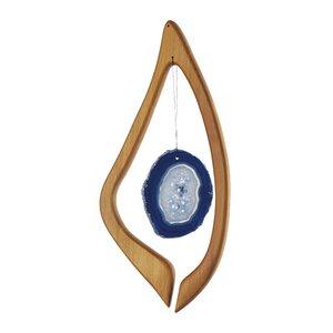 Fensterdeko aus Holz, Harfe mit blauem Achat - Mitienda Shop