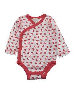 Baby Body Langarm weiss/rot mit Motiv - Lana naturalwear