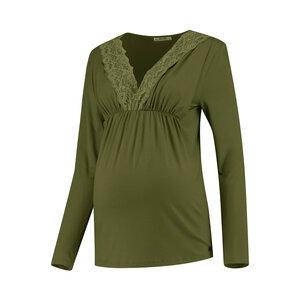 langärmliges Umstandsshirt Stillshirt feine Spitze - Love2Wait
