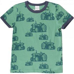 """""""Green Cotton"""" T-Shirt grün mit vielen Treckern - Fred's World by Green Cotton"""