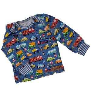 Babyshirt aus Biojersey Autos - Omilich