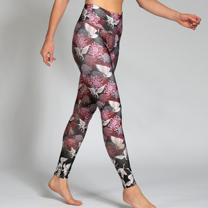 Yoga Leggings KRANICH aus Komfort- Stretch mit Tasche - Magadi