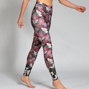 Yoga Leggings KRANICH aus Komfort- Stretch mit Tasche - Magadi