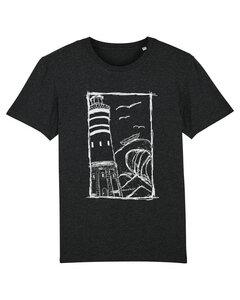 Herren T-Shirt Leuchtturm 2.0 aus Biobaumwolle dunkelgrau meliert  - ilovemixtapes