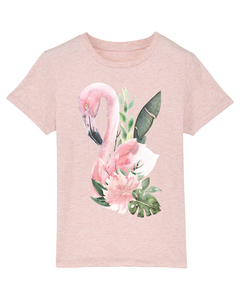 Flamingo mit Blumen | T-Shirt Kinder - wat? Apparel